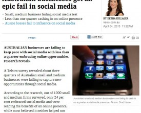 Australian business fail social media - news.com.au