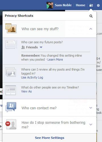 Shortcut Privacy Settings