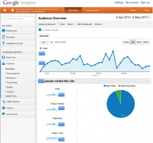 Google Analytics on an iPhone Screen