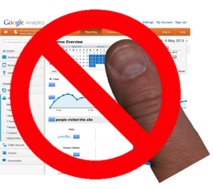 Google Analytics Mobile App is too small for human thumbs