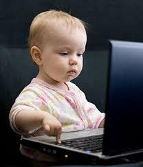 kid using computer