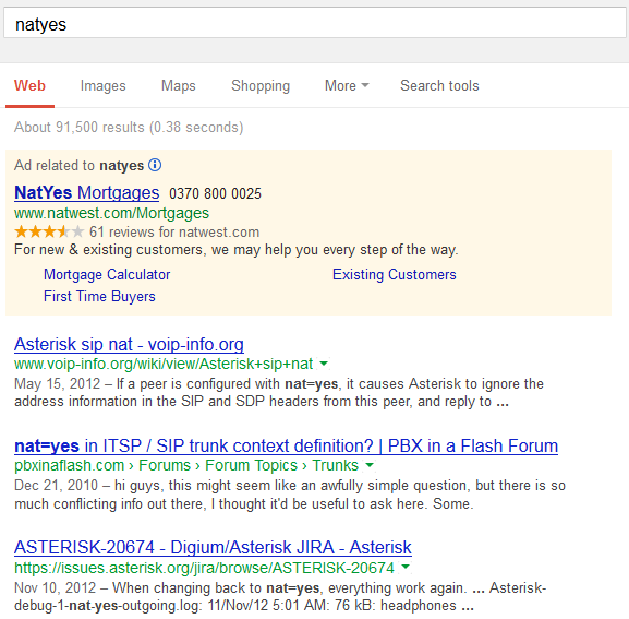 NatYes SERPs in Google