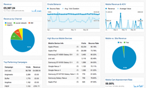 google analytics mobile ecommerce dashboard
