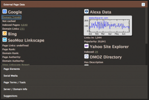 seo site tools chrome plugin
