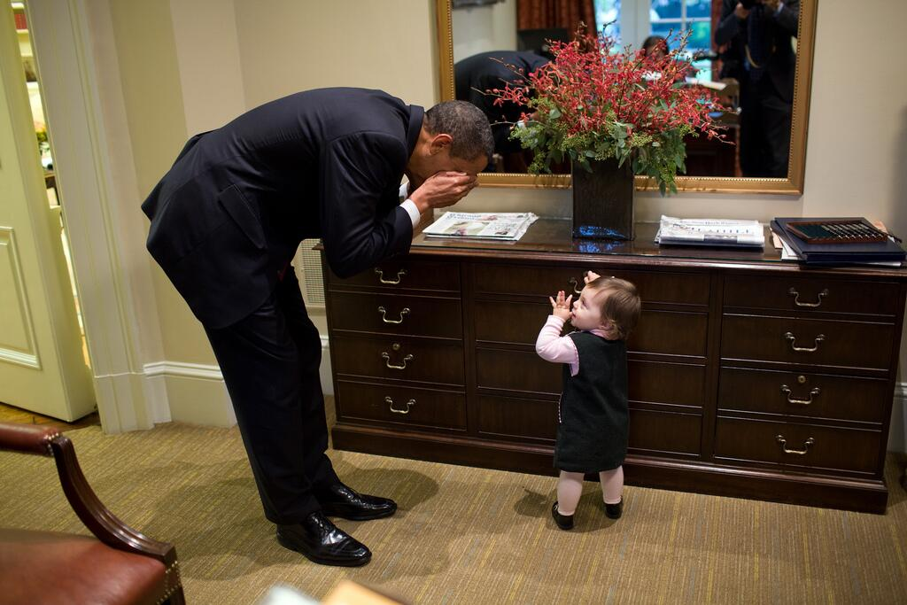Barak Obama and the kid