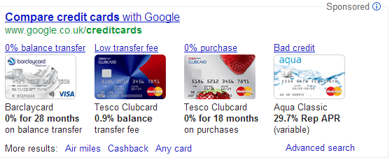 compare credit cards - Google Search