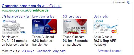 compare credit cards - Google Search