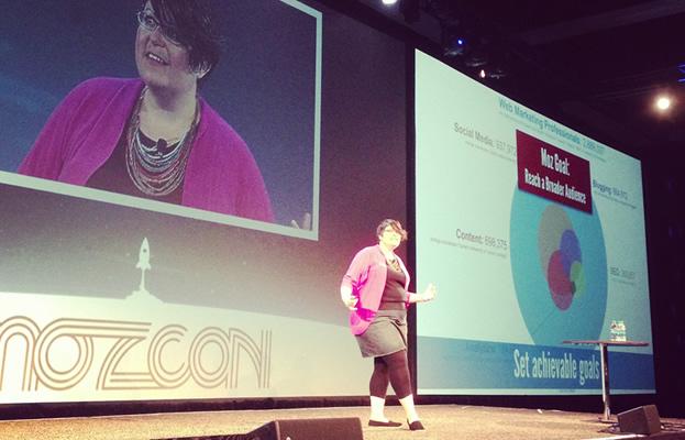 Jen Lopez at MozCon