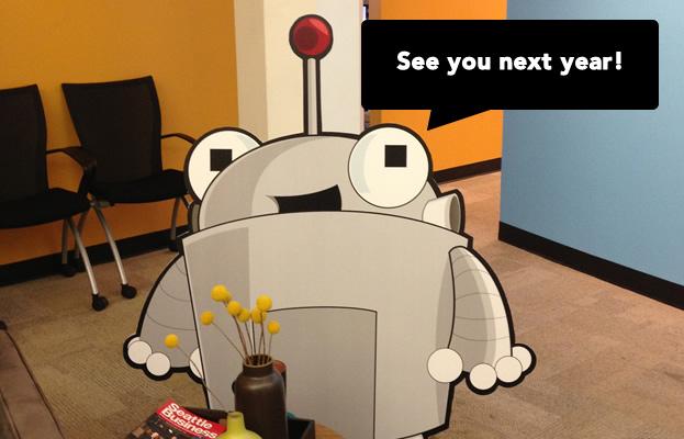 Roger Mozbot at the Moz Office