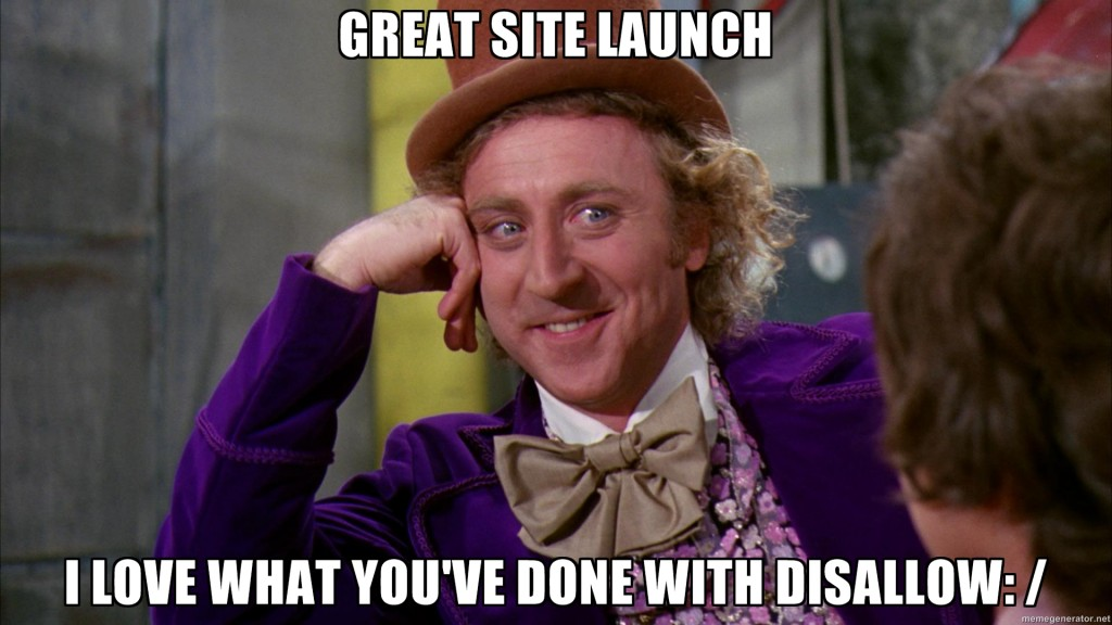 Great Site Launch....I love What You've Done With Disallow: /