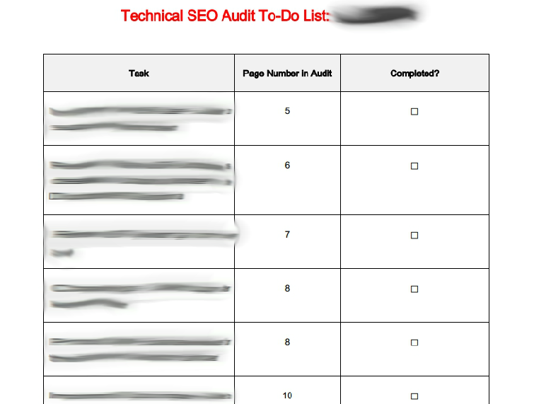 Technical SEO audit to-do list