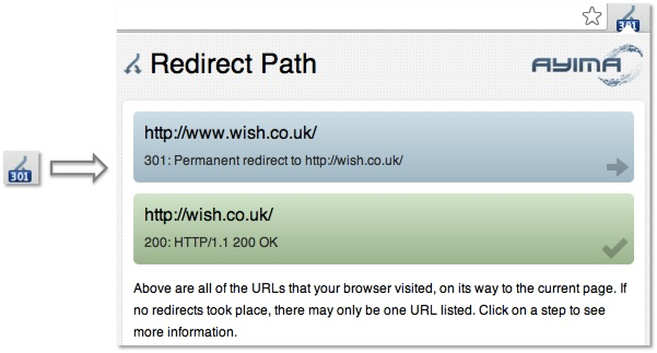 Ayima Redirect Path Chrome