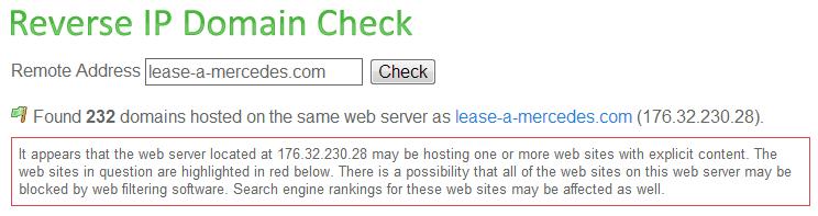 Reverse IP Screenshot