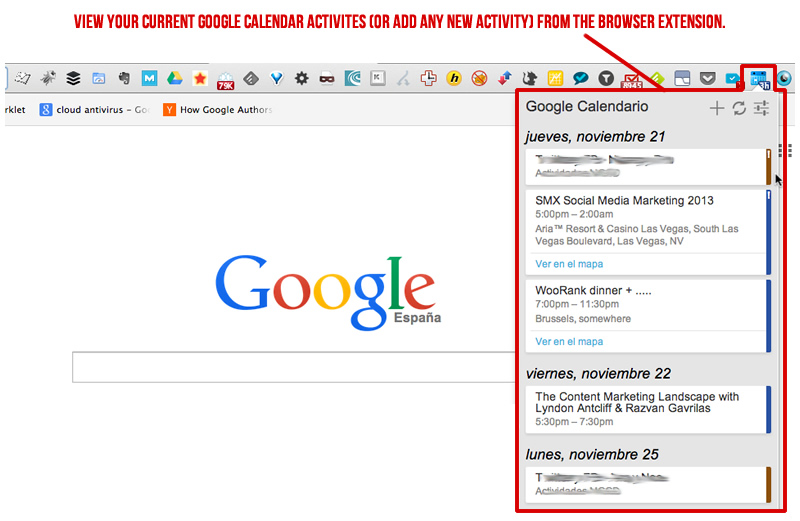 Google Calendar Activities