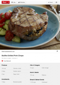 Food network Pinterest Product Pins example