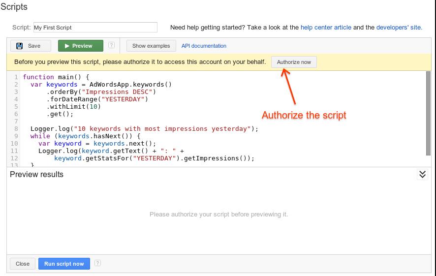 authorize-script