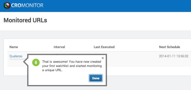 Using CROMonitor to Monitor URLs