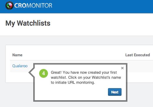 CROMonitor Watchlist