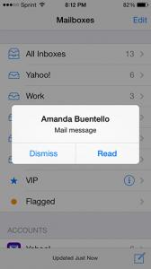 VIP iOS Mail