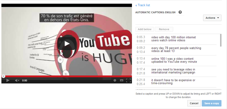 YouTube Captioning