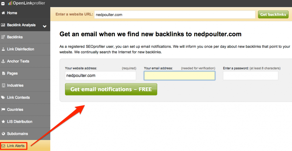 Openlinkprofiler Link Alerts