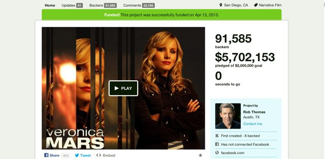 The Veronica Mars Movie Project by Rob Thomas — Kickstarter