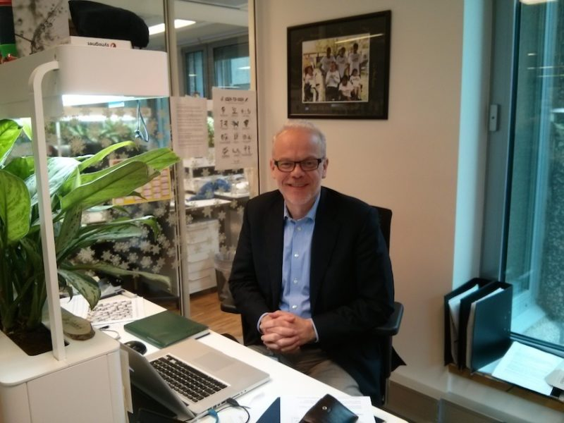 Jan Gronberch in his office
