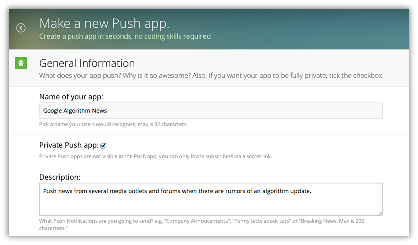 Pushco app