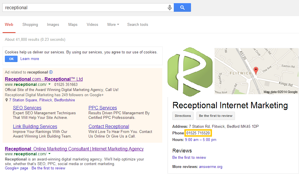 receptional SERPs