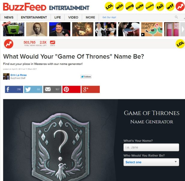 GoT buzzfeed example