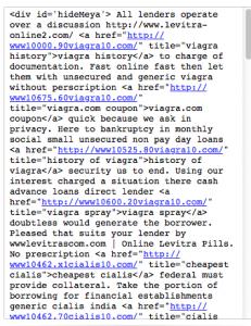 Screenshot of Spam