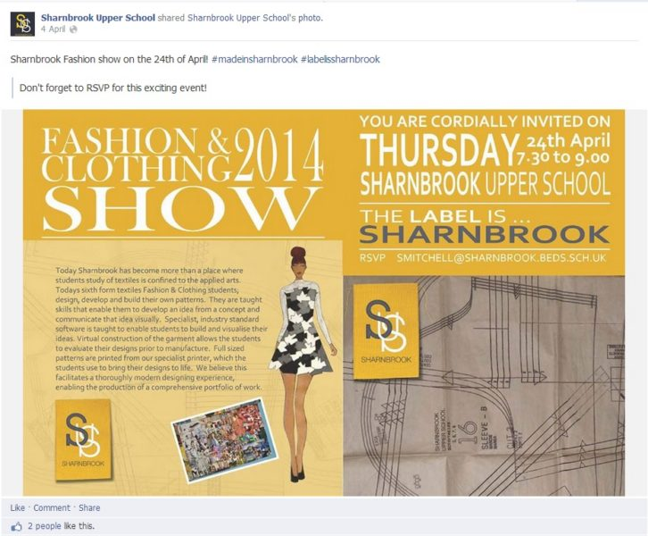 sharnbrook upper school facebook page