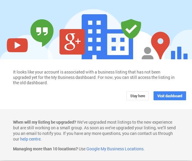 Google My Business old dashboard help