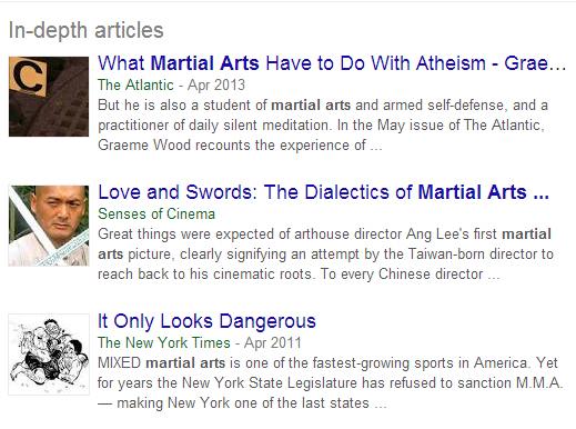 In-depth Articles in Google UK