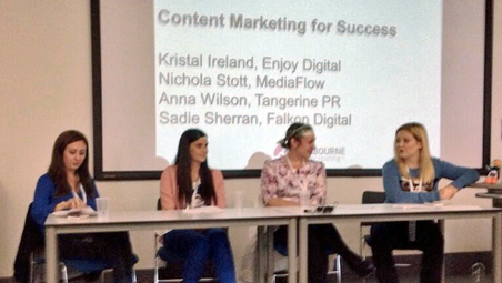 Anna Wilson, Sadie Sherran, Nichola Stott, and Kristal Ireland at SAScon 2014