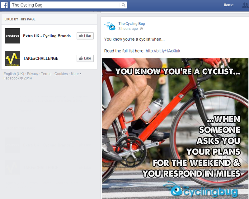 The Cycling Bug Facebook Page - State of Digital