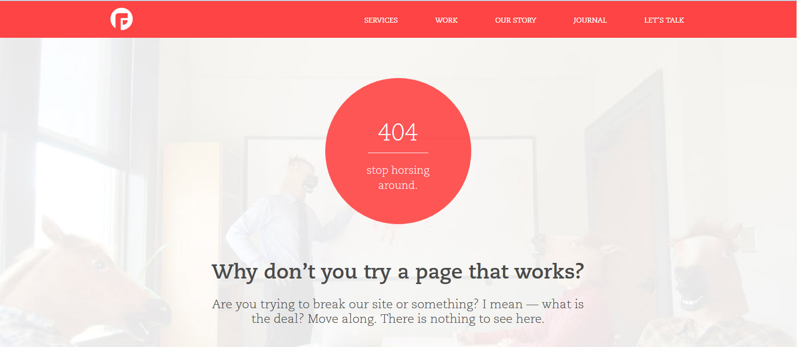 Focus Lab 404 page