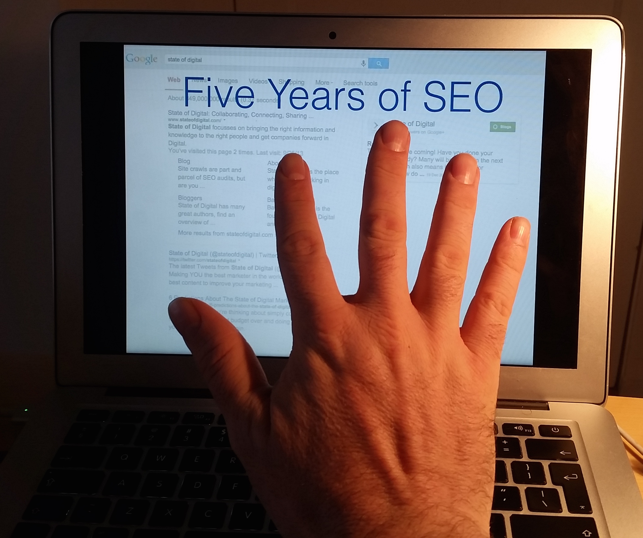 Five Years of SEO
