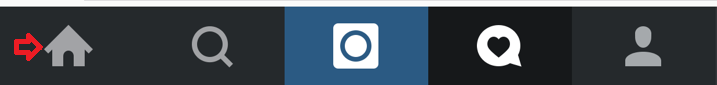 Instagram bar home tab