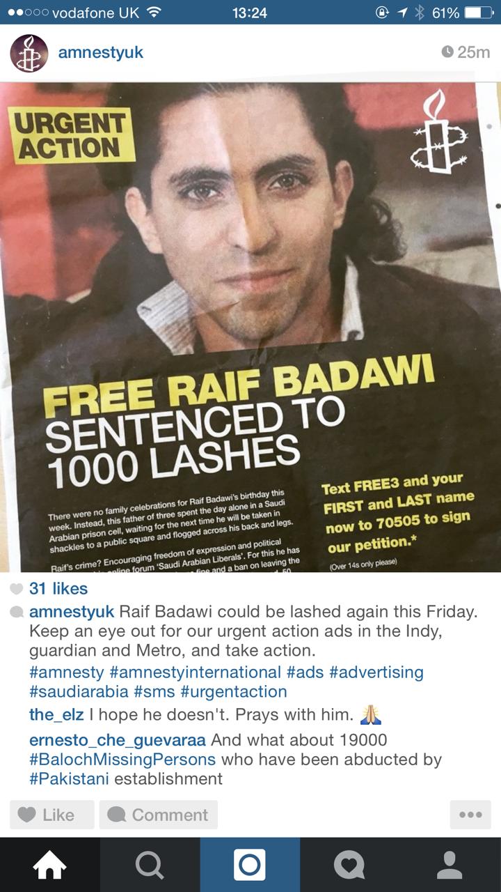 Amnesty UK on Instagram