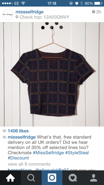 missselfridge product code
