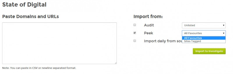 Peek - Import to Investigate