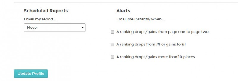 Rankings Notifications