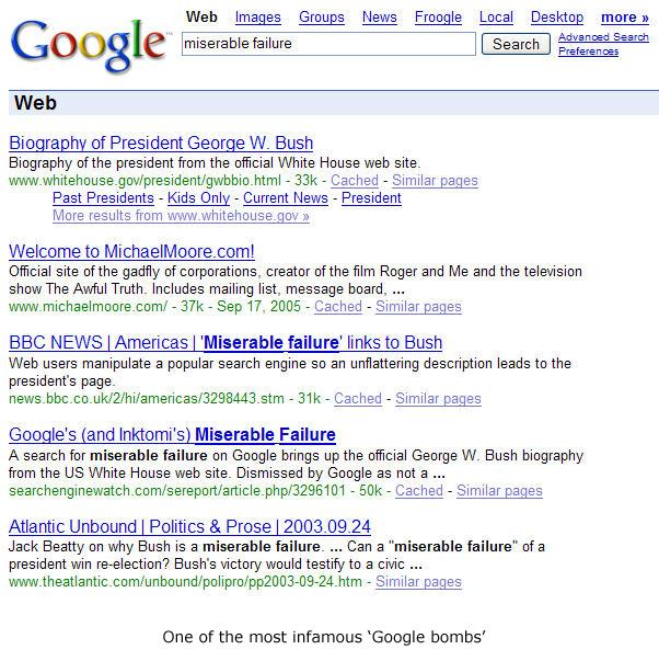 The classic Google Bomb