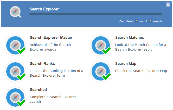 Majestic Search Explorer award