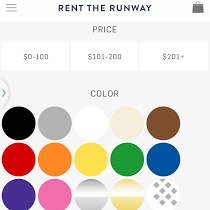 Rent the Runway Mobile Color Options