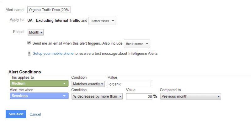 View - Custom Alerts