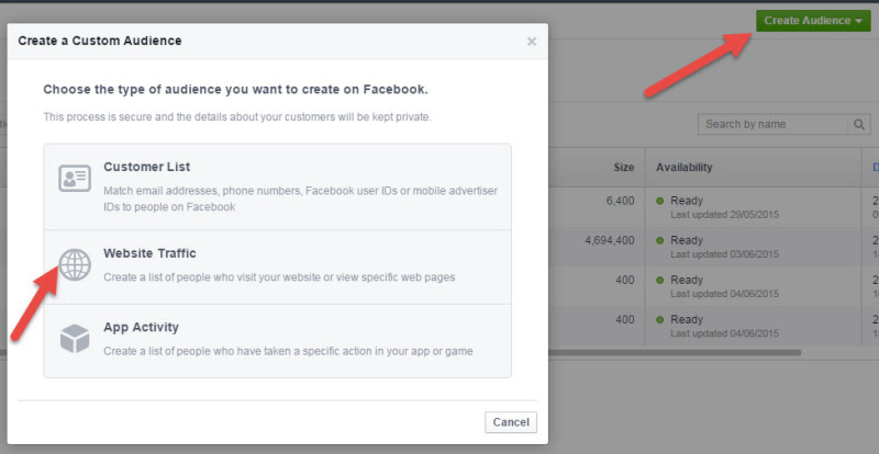 FB Custom Website Audience