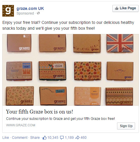 Graze Facebook Ad - State of Digital