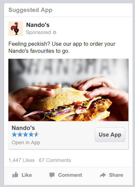 Nando's Facebook Ad - State of Digital